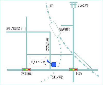 鎌倉駅からの地図です。