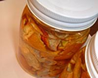 アロマテラピー教室「Natural Herb ナチュラルハーブ」アロマテラピー検定対策の専門サイト。ハーブで手作り「ミカンの皮でハウスキーピング」ビン詰め完成