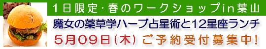 【ワークショップ】「魔女の薬草学ハーブ占星術と12星座ランチ」はコチラ!